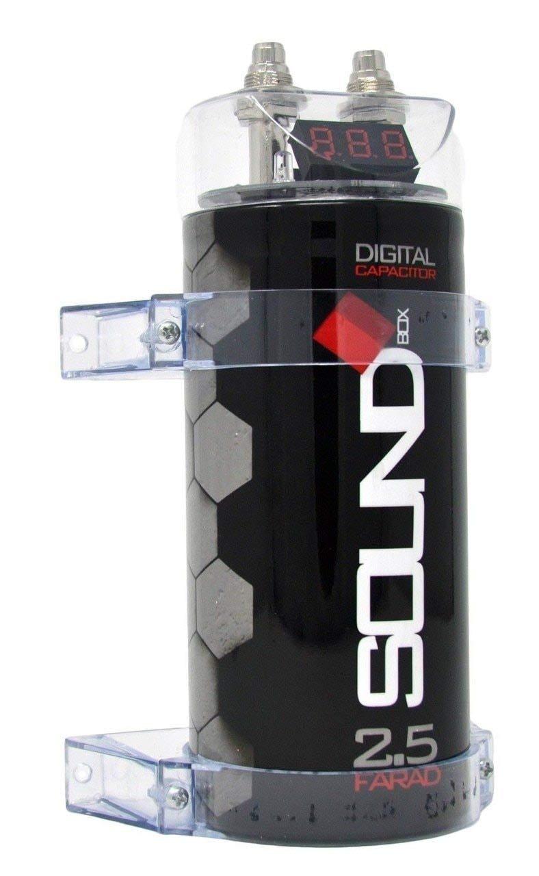 SoundBox 2.5 Farad Digital Capacitor - 2500 Watts Peak by SoundBox