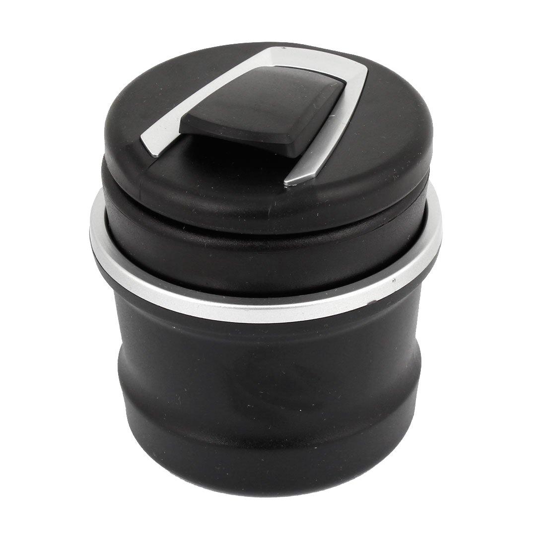Posacenere - SODIAL(R) Posacenere in plastica nero con luce LED blu