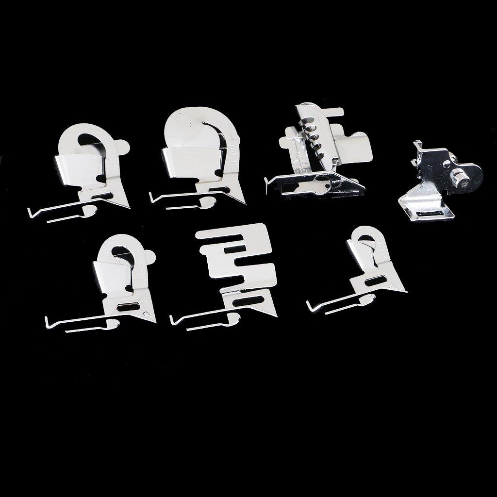Sharplace Set di 7pz Piedini Premistoffa per Macchina Cucire Elastico Hemmer Legante