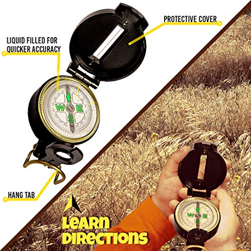 Back 2 Nature Outdoor Toy Set - Kids Binoculars, Flashlight, Compass, Magnifying Glass. Young Explorer Toys Kit for Playing Outside or in the Yard. 2018 Best Unique Present for boys and girls