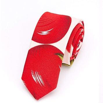 Zjuki corbata Mens Tie Cotton 5 cm Imprimir Corbata Corbatas ...