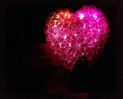 Novo (TM) Rosa decoración con luz corazón iluminación ...
