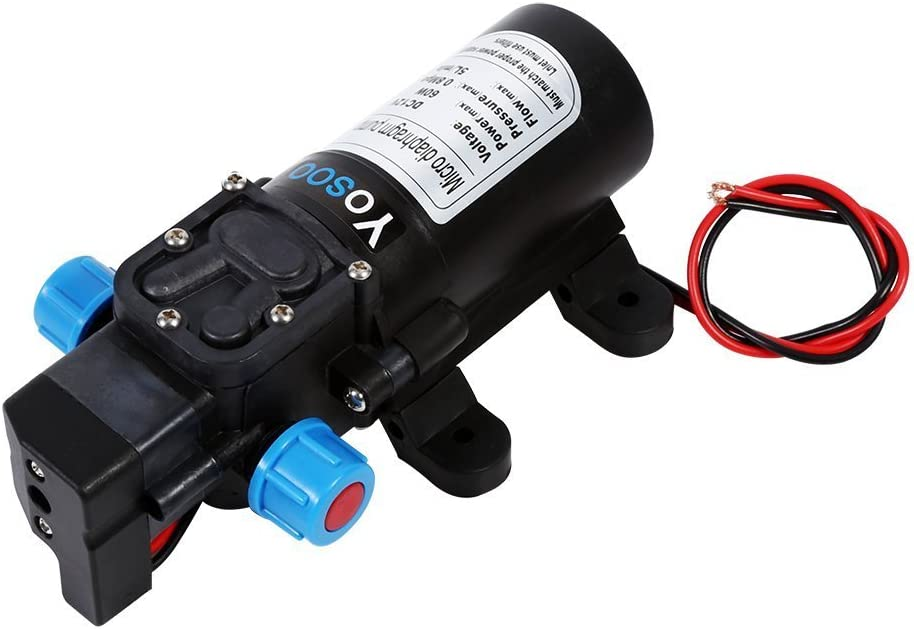 115PSI 5L//M Pumpe Dell Wasser Automatische Hochdruck Membran f/ür Wohnmobil Wohnwagen Boot Garten LKW Boot DC 12/V 60/W