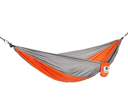 OpenWorld Outfitters Hammock – Portable Lightweight Parachute Material Hammock, Great Camping Hammock, Backpacking, Hiking, Travel, Beach, House, and Yard, Nylon Straps w Solid Steel Carabiners