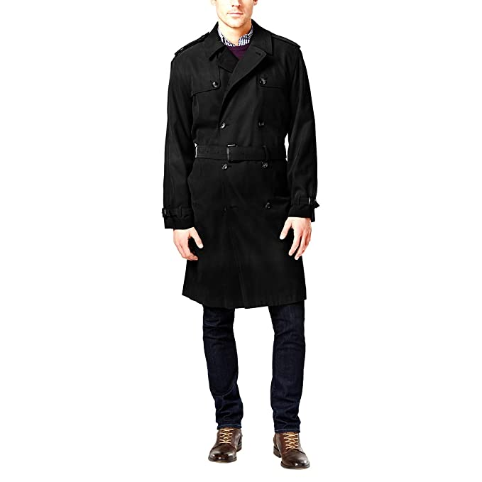 1940s Mens Clothing London Fog Mens Plymouth Twill Belted Double-Breasted Iconic Trench Coat $150.00 AT vintagedancer.com