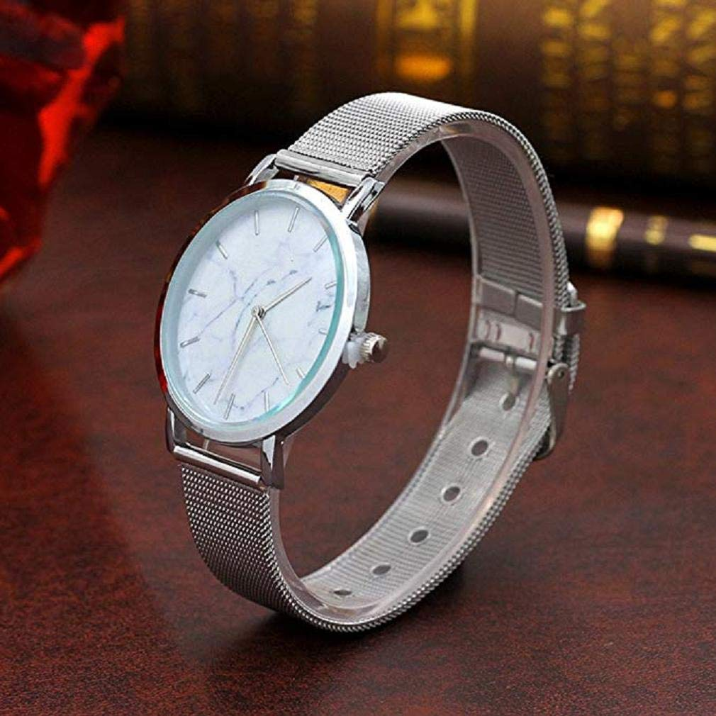 Windoson Women Quartz Watches Clearance Ladies Watches Womens Relojes Stainless Steel Female Watches (Silver): Electronics