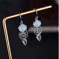 CARDEON Gemstone Drop Earrings Long Drop Earrings Classic Retro Gorgeous Gifts for Women Girls