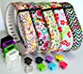 2015 Latest Band Set For Fitbit Flex, Deruitu(TM) Replacement bands Set, Newest Layout, Water Transfer Printing Set With Metal Clasps for Fitbit Flex Activity Tracker/ Wireless Activity+Sleep Wristband/ Sport Bracelet/ Sport Armband