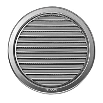 rejilla para sistema de ventilación 125mm de diámetro (12,7 cm, circular, de acero inoxidable)