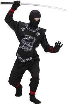 Negro Ninja Disfraz Disfraz de ninja Disfraz Samurai Niños Niños ...