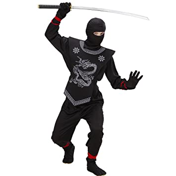 Negro Ninja Disfraz Disfraz de ninja Disfraz Samurai Niños ...