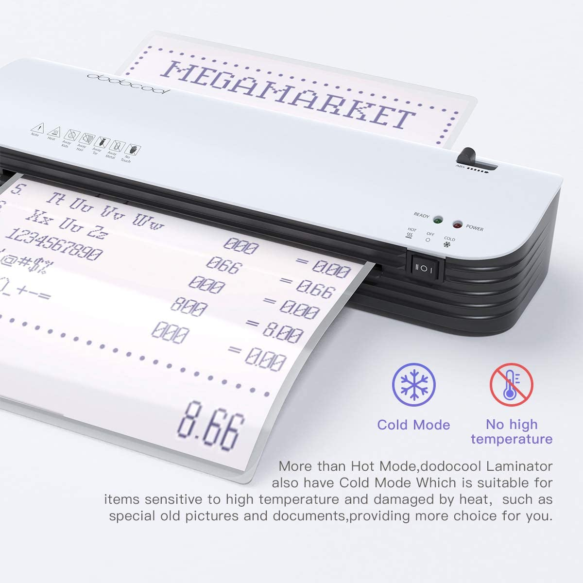 Laminator, dodocool Thermal Laminating Machine, 4 in 1 Personal Laminator for Home Use Shcool Teacher Office, 9 Inches Small Cold Lamination Machine with 20 A4 A5 A6 Pouches Trimmer Corner Rounder : Office Products