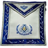 Masonry Master Mason Apron Genuine White leather Body by Equinox Masonic Regalia