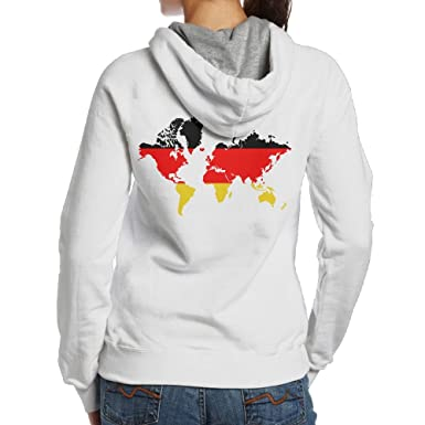 Womens world map with germany flag hoodies back design cute back womens world map with germany flag hoodies back design cute back print pullover hoodie gumiabroncs Images