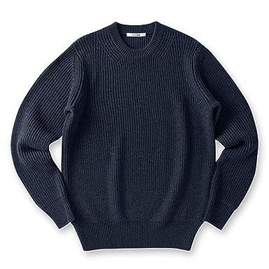 Sloane Wool Rib Crewneck Sweater: Navy