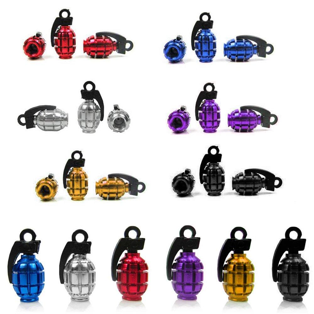 Foxnovo - Juego de 12 tapas para tapas guardapolvo de válvulas (forma de granada, en 6 colores diferentes) 1398567900-1