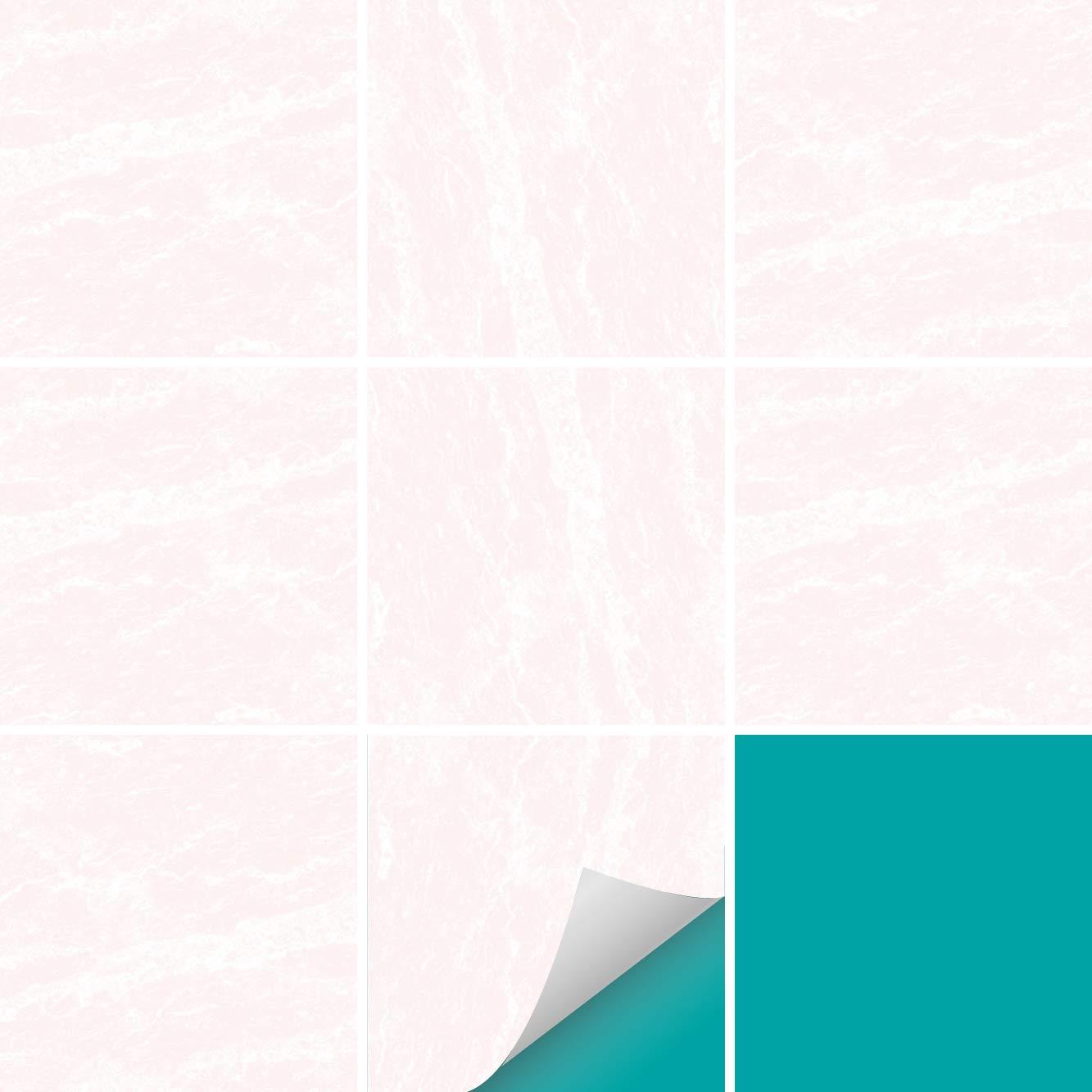 PrintYourHome Fliesenaufkleber für Küche und Bad     Dekor Marmor Weiß Schwarz   Fliesenfolie für 15x15cm Fliesen   152 Stück   Klebefliesen günstig in 1A Qualität B07GT1YSVW Fliesenaufkleber f21d2f