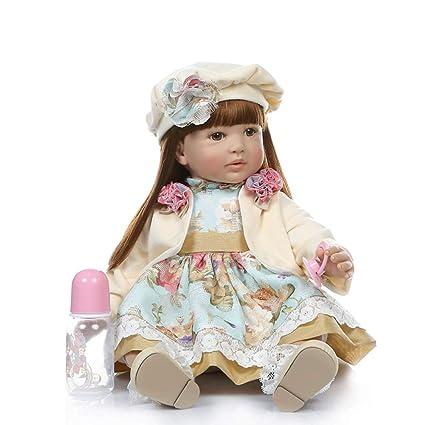 morbida vita in vinile in vinile stile A come la bambola del bambino rinato con abiti Minsong Bambola Reborn da 48 cm