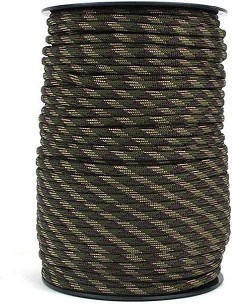 LLAAIT 100M 9 Hilos Paracord 550 IB Cuerda Cuerda Escalada ...