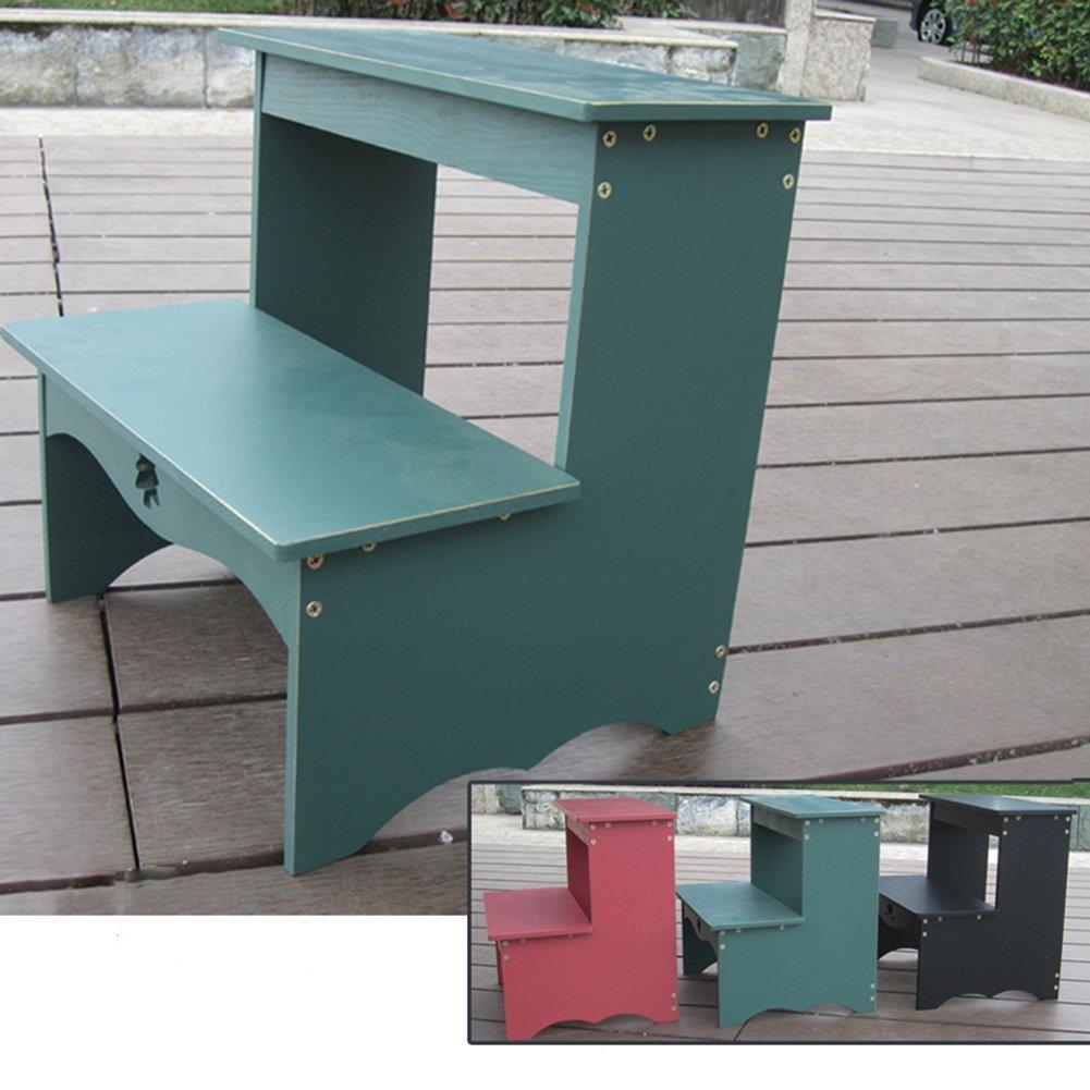 LIXIONG Multiuso Cambiando su Escalera Taburete de Zapatos Escalera su de Dos Niveles Taburete portátil para el hogar Taburetes taburetes de la Biblioteca (Color : Azul and Verde) 97068b