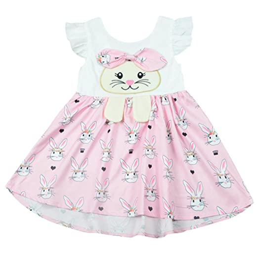 19bffbc56ffe3 Amazon.com: Hatoys Kids Baby Girls Sleeveless Cartoon Rabbit Print ...