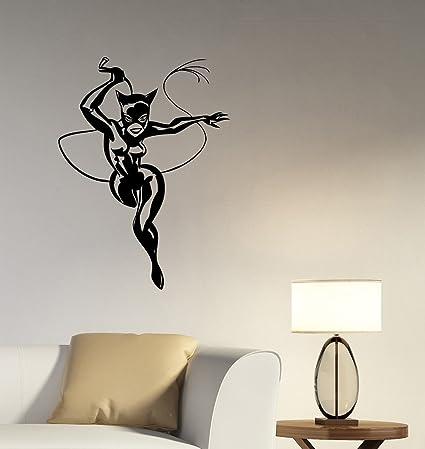 Catwoman Wall Decal Vinyl Sticker DC Comics Art Superhero Decorations For  Home Housewares Teen Kids Girls