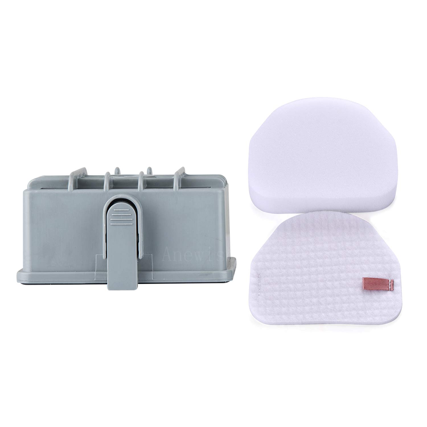 Anewise kit for Shark Rotator Nv450 Hepa Filter & Foam Filter (Containing 2 Foam Filter and 1 Hepa Filter), Compare to Part # Xff450 Xhf450 Small Size