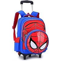 Mochila Trolley - Escuela Primaria Spiderman 3D Impreso Niños del Bolso De Balanceo Primaria Laminado Bolsa De Libros…