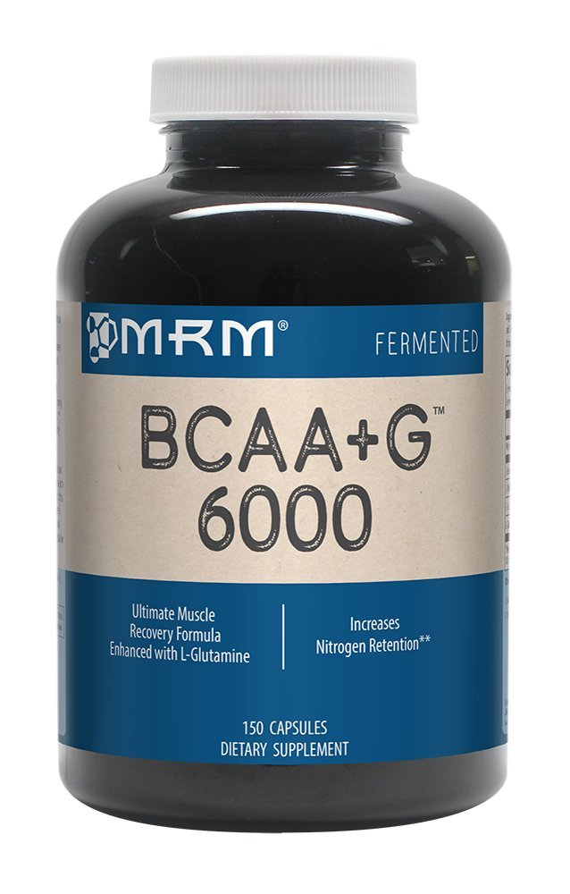 MRM - BCAA+G 6000, Ultimate Muscle Post-Workout Recovery Formula , Supports Muscle Size & Strength, Recovery, Reduces Fatigue & Muscle Soreness (150 Capsules)