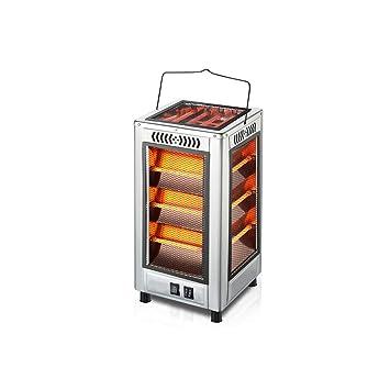 Calentadores, hogar Radiador Vertical Estufa para Hornear pequeña Calefacción silenciosa Barbacoa de Doble Uso - Calefacción de Tubo de Cuarzo (Plata): ...