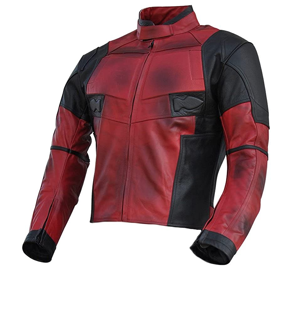 Classyak Mens DP Real Leather Motorcycle Jacket