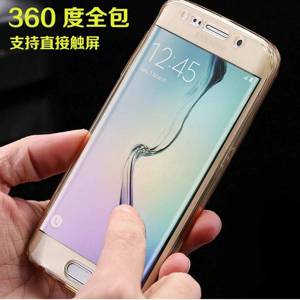 6-Oro Sycode 360 Gradi Glitter Custodia per iPhone 6S 6,Morbido 2 in 1 Anteriore E Posteriore Trasparente Custodia Cover per iPhone 6S