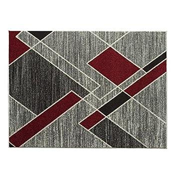 COSI Tapis de salon moderne géométrique 160x230 cm ivoire et ...