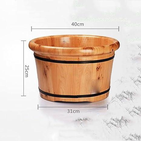 YIHANGG Holz Fu/ß Wanne Barrel Barrel Fu/ßbad Barrel Fu/ßbad Cedar Mit Haus Gepolsterten Fu/ßbad Fa/ßdeckel Fu/ß Wanne Fu/ß Wanne Holzfuss Basin,A-28*35*26CM