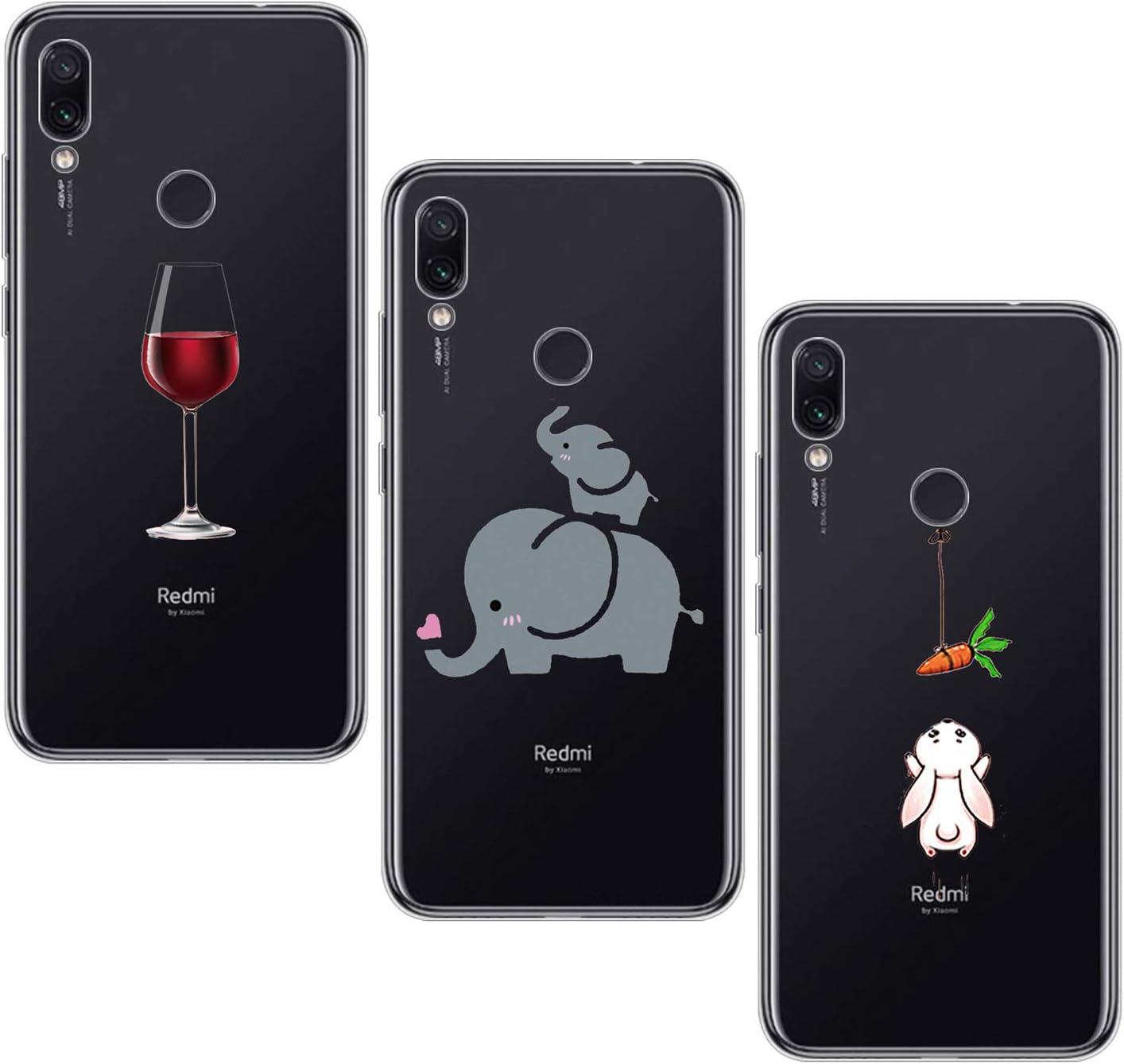 Oihxse - Funda Compatible con Xiaomi Mi 8 Lite, Funda con TPU Suave, Ultra Ligera, Fina y Transparente para Xiaomi Mi 8 Lite, Funda Suave de Silicona Flexible con Cristales
