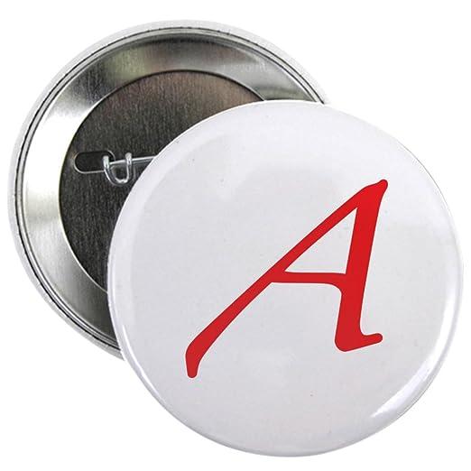 Amazon Cafepress Atheism Scarlet Letter A Symbol 225 Button