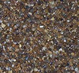 Safe & Non-Toxic {Various Sizes} 30 Pound Bag of Gravel, Rocks & Pebbles Decor for Freshwater & Saltwater Aquarium w/ Smooth Natural River Inspired Earthy Shimmering Style [Black, Brown, Gray & Tan]