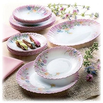 Buy Arcopal Round Dinner Dinner Set - Extra Resistant (21, Aliya ...