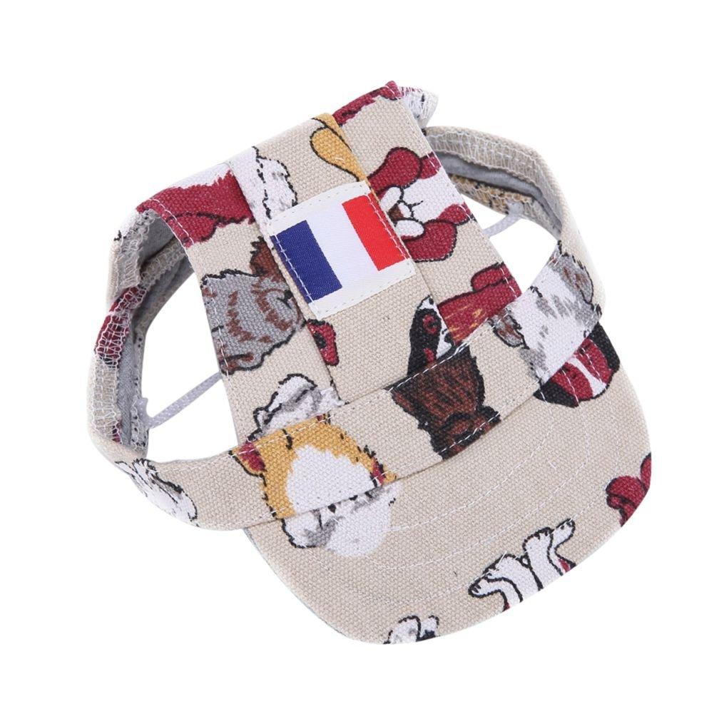 59b499eb Amazon.com : Adarl World Cup Pet Baseball Cap Dogs Sport Hat Dog Visor Cap  with Ear Holes for Puppy Pet Dog Cat France/L : Pet Supplies