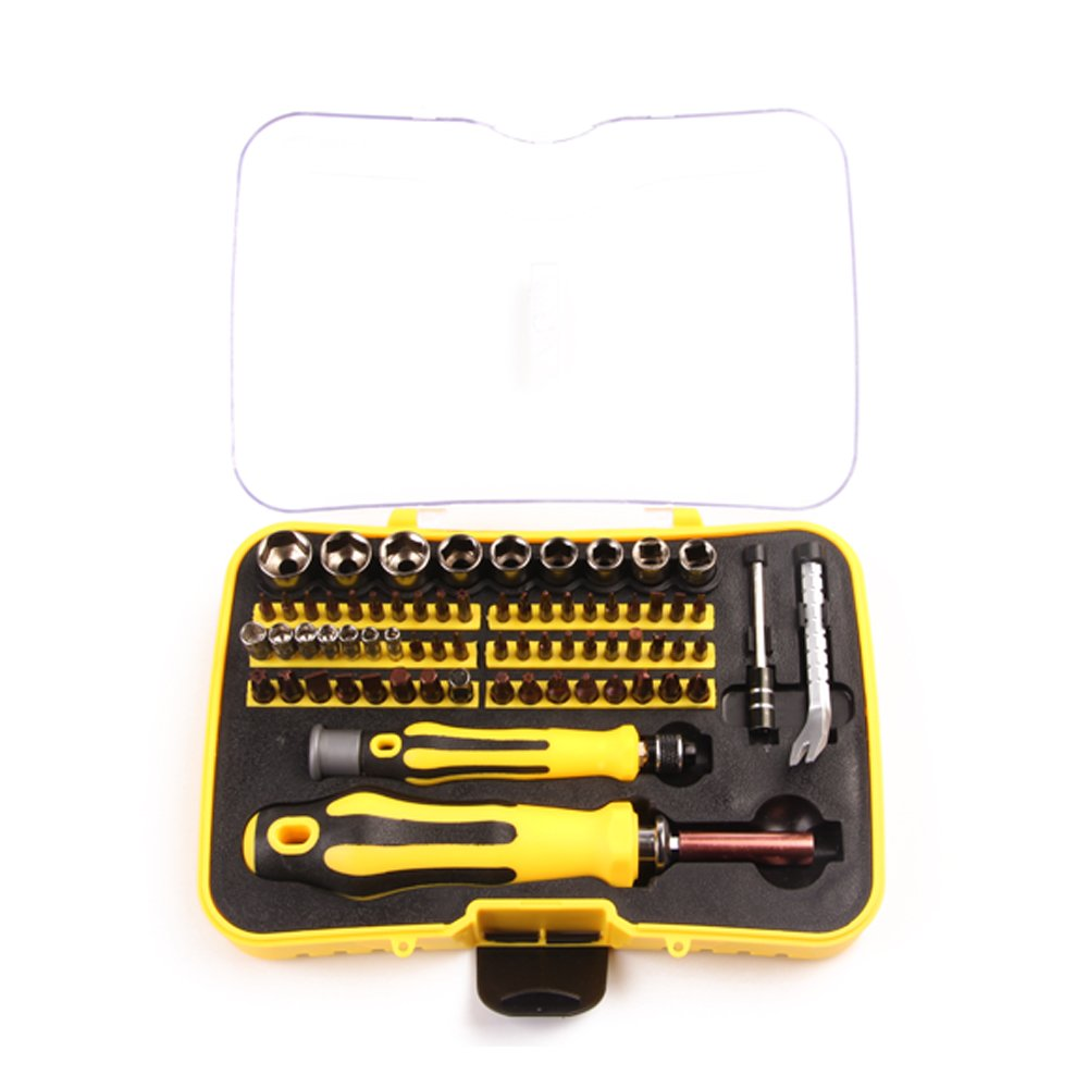 MPLUS 70 Piece Precision Screwdriver Set with 65 Bit Magnetic Screwdriver Kit Electronics Repair Tool Kit for iPhone, iPad, MacBook, Desktop, Computer, Tablet, Game Console