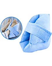 Foot Pillow Heel Cushion Protectors - Pressure Sore and Heel Ulcer Relief - Breathable High Elasticity Sponge filling,Light Blue,1pcs