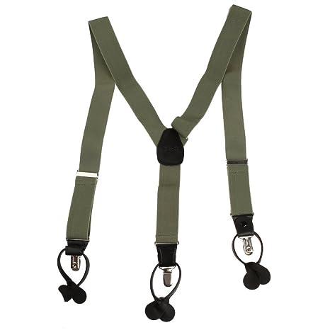 SP2001 Green Solid Zeitgen?ssische Geschenke f¨¹r Mens Fashion Hosentr?ger  Clip-End-Klammer Y-back Play Designer Von Y&G: Amazon.de: Bekleidung
