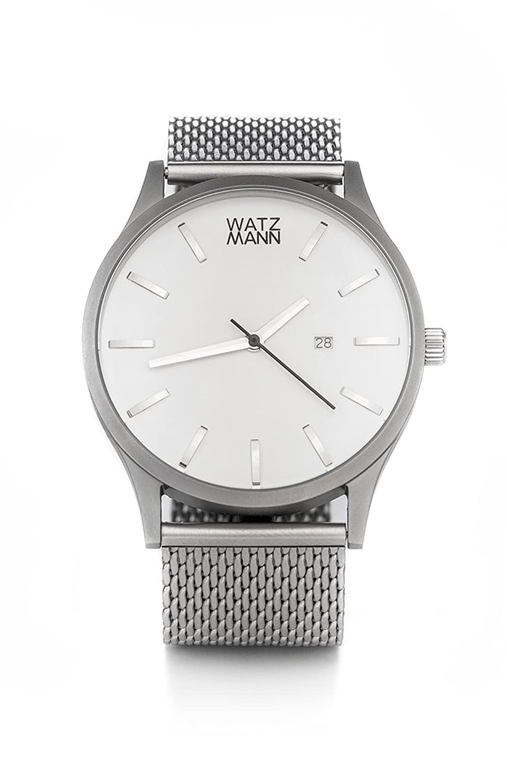 WATZMANN watch -- white mesh edition - minimalistische Herrenuhr