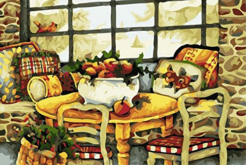 Greek Art Paintworks Paint Color By Number Kits,Warm House,16-Inch by 20-Inch (Split Level Kit House)