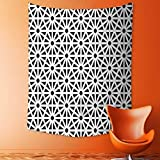 aolankaili Print Decorative Throw Fabric Tapestry Wall Hanging Moroccan Islamic Old Motif with Oriental Effects Middle Eastern Print Black White Art Decor for Bedroom
