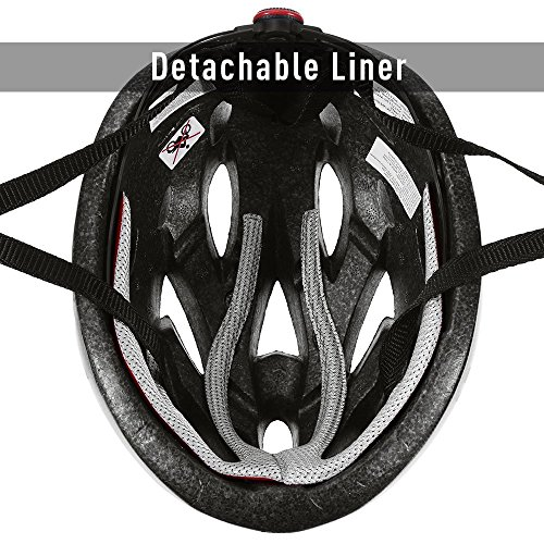 Q-Yuan Lightweight Bike Helmet, CPSC Certified Cycle Helmet Adjustable Thrasher for Adult with Detachable Liner with Water and Dust Resistant Cover by Q-Yuan (Image #4)