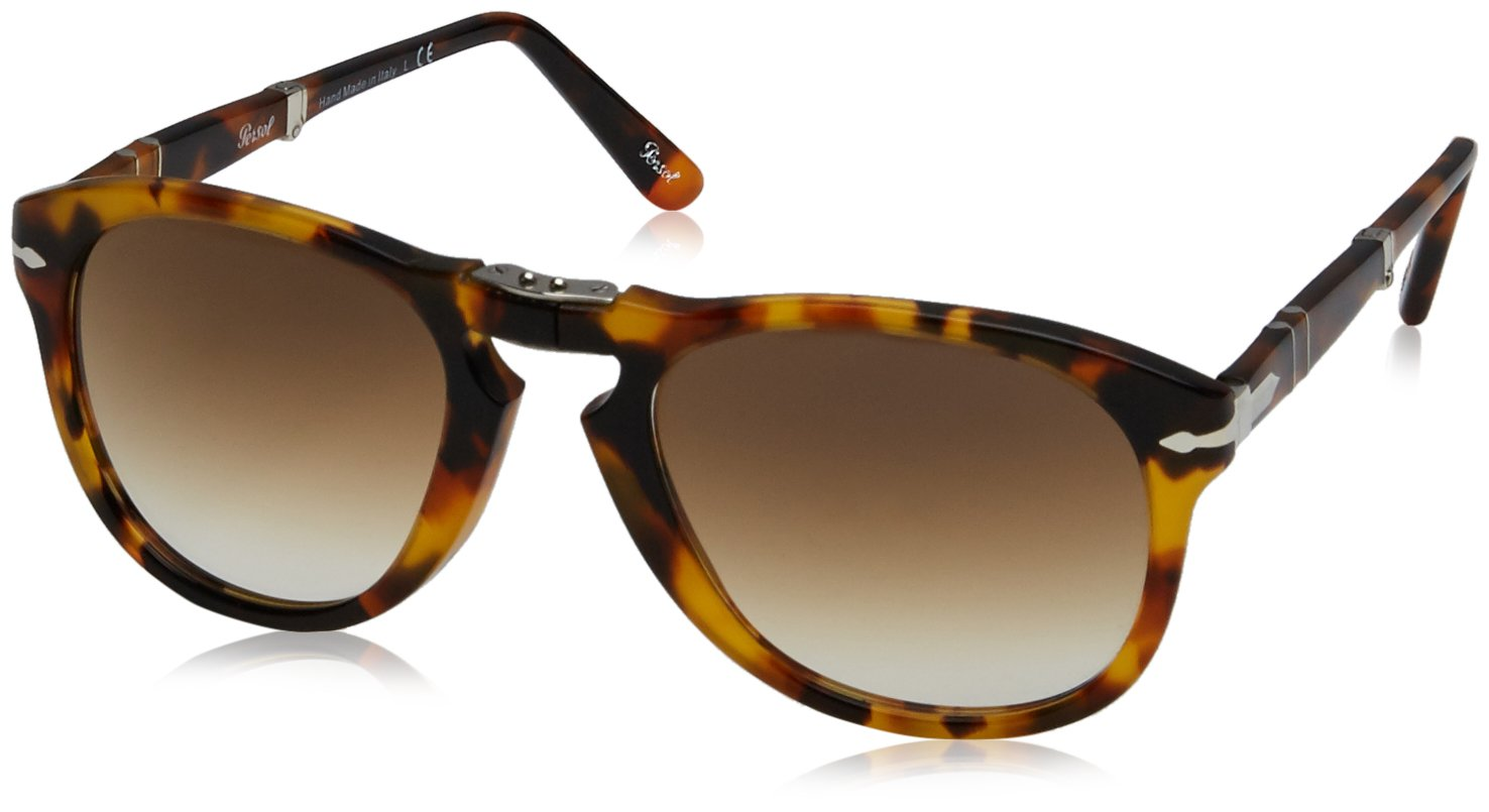 Persol Men's PO0714 Sunglasses Madreterra / Clear Gradient 54mm by Persol