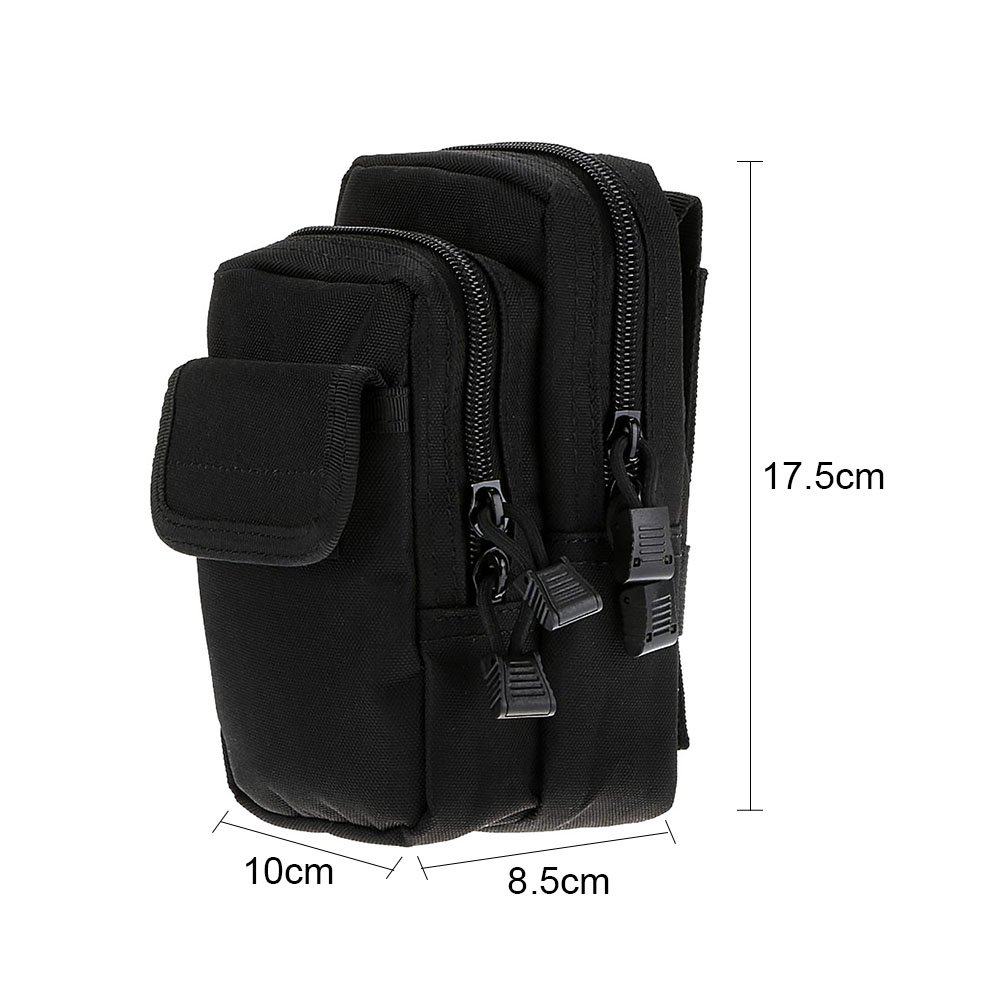 Waist Bag Nylon Pouch Belt Bags Multifunctional Practical Unisex Camping Wear Resistance Pockets Sports Tactical Portable Zipper Outdoor Khaki