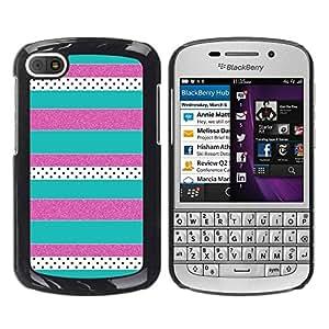 Paccase / SLIM PC / Aliminium Casa Carcasa Funda Case Cover para - Purple Teal Pattern - BlackBerry Q10