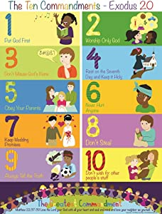 The Ten Commandments Poster for Kids (1, 17